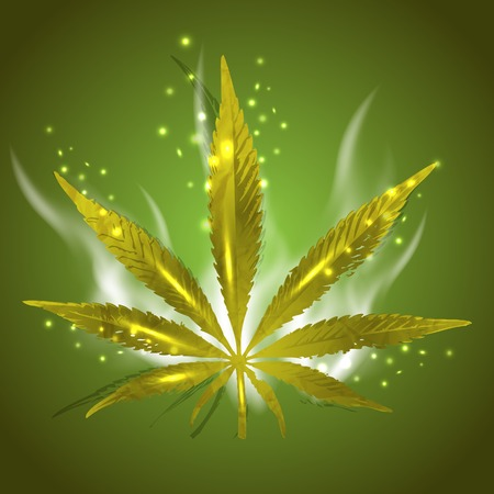 ganja: Magic ganja leaf for your design, vector illustration, eps10. Glad to see you in my portfolio and have a nice day=)