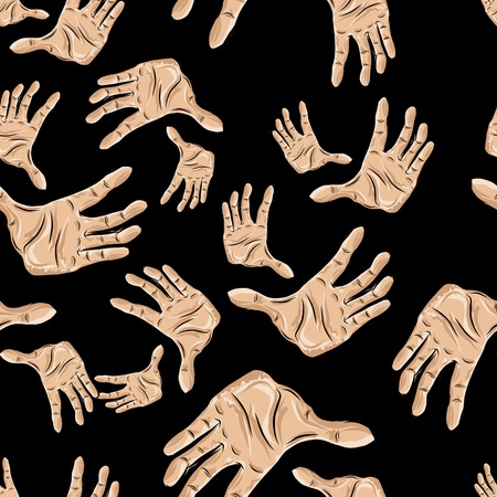 mimic: Seamless pattern of hands