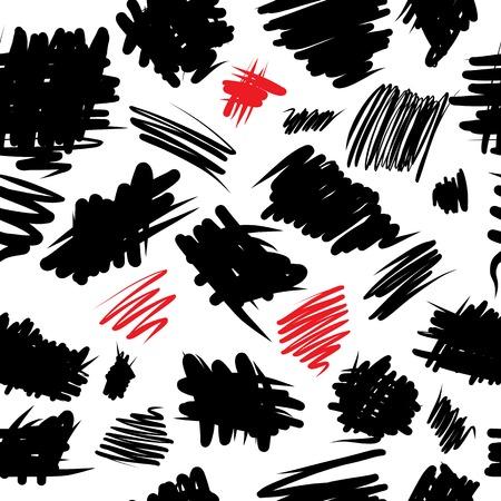 garabatos: Grunge Curvy patrón transparente Vectores