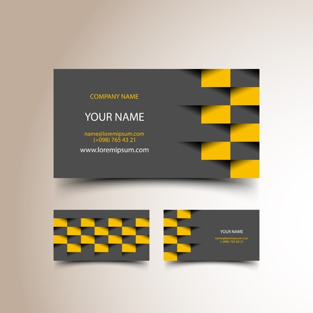 checker: Taxi business card set Illustration