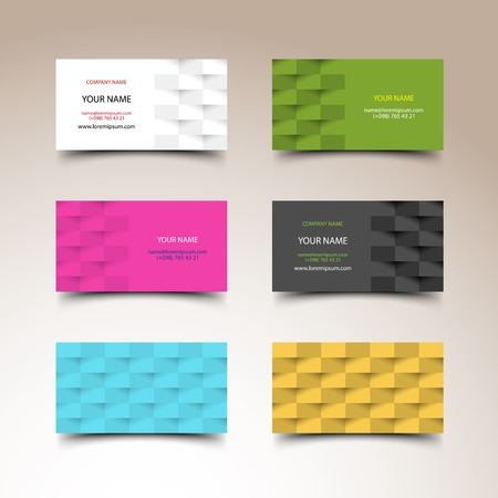 business cards: Business card set