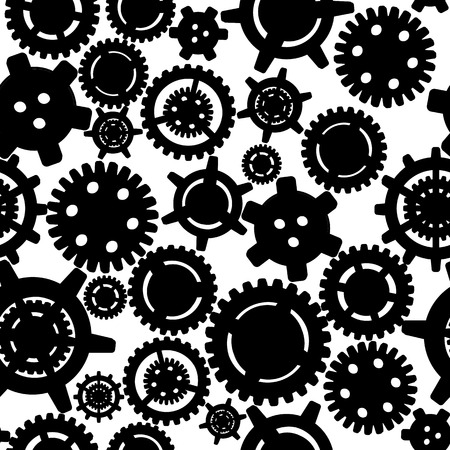 Gears seamless pattern Vector