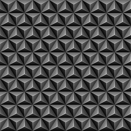 arte optico: 3d triángulo patrón transparente Vectores