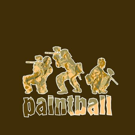 paint spray gun: Paintball players