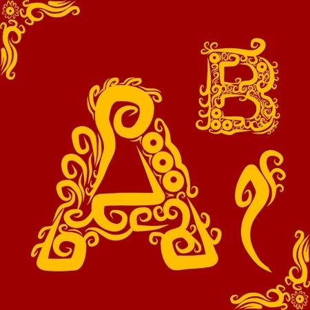 Decorative Alphabet A Vector