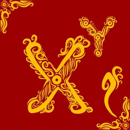 Decorative Alphabet X Vector