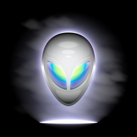 Alien head Vector