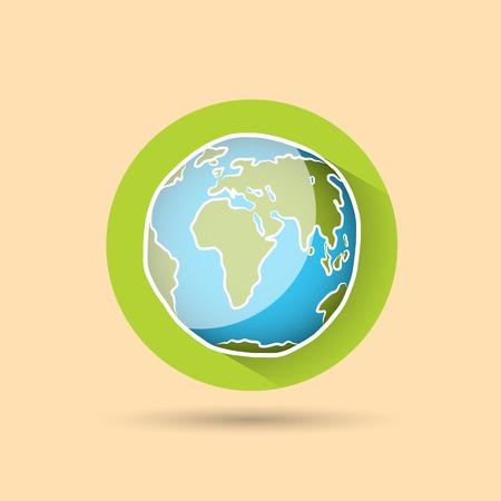 Doodle globe icon
