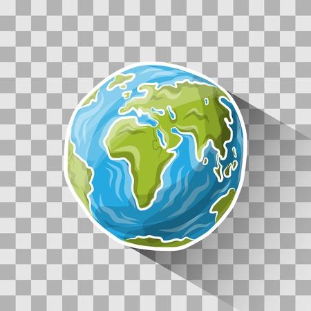 落書き世界  イラスト・ベクター素材