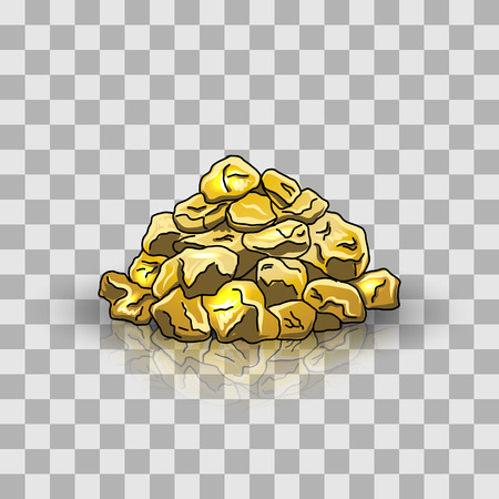 nuggets: Golden nuggets pile