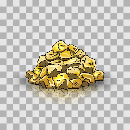 Golden nuggets pile