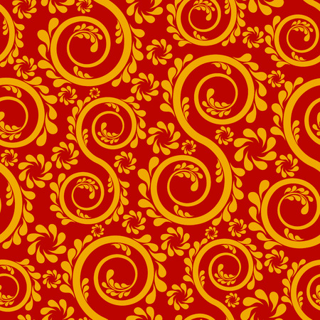 swirl: Swirl floral seamless