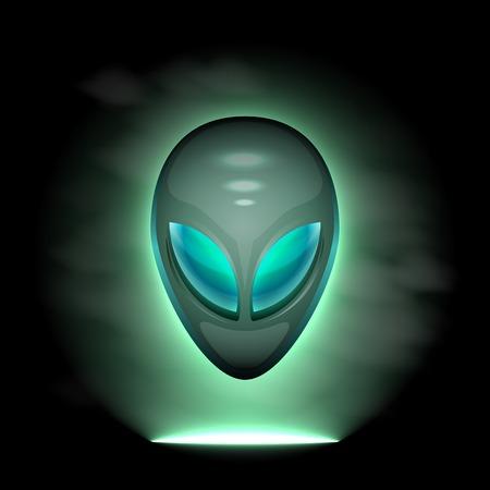lifeform: Alien head, vector illustration 4 your design,layer