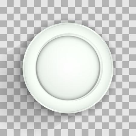Plaat op transparante, vector illustratie voor uw ontwerp, eps10 3 lagen