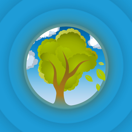 tree design: Tree look in circle, vector illustration for Your design, eps10