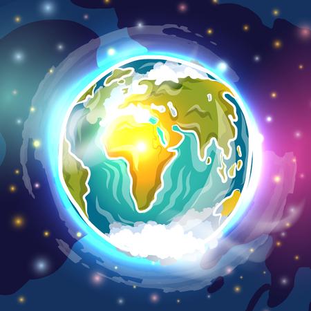 earth planet: Realistic doodle globe, vector illustration for Your design, eps10 Illustration