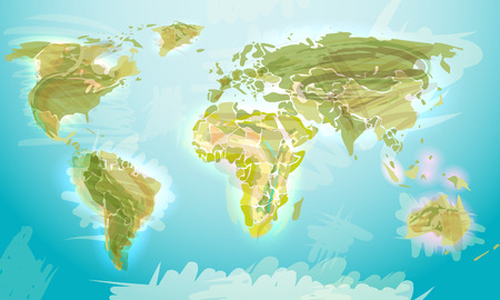 earth planet: World map grunge style, vector illustration for Your design, eps10