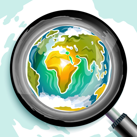 earth planet: Global search doodle, vector illustration for Your design, eps10