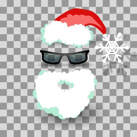 design costume: Santa costume on transparent, vector illustration for Your design, eps10