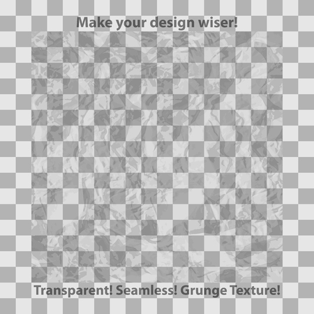 transparency: Grunge and checkered seamless patterns, vector illustration for Your design, eps10