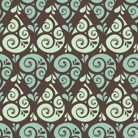 Swirl drop seamless pattern background, vector illustration for Your design, Illustration