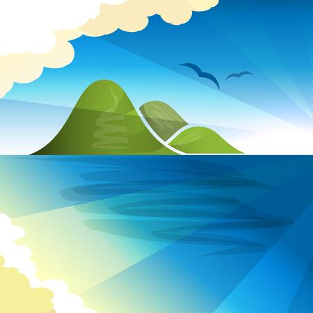 archipelago: Tropical islands dreams, vector illustration for Your design,