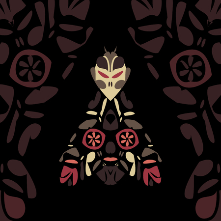 moth: Scary moth in the dark, vector illustration for Your design Illustration