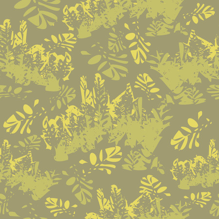 defensive: Camouflage floral seamless pattern, vector illustration for Your design, eps10 Illustration