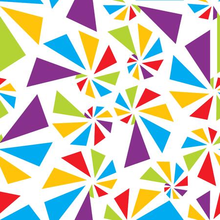 torsion: Triangular torsion seamless pattern, vector illustration for Your design,
