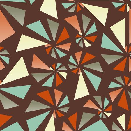 torsion: Triangular torsion seamless pattern Illustration