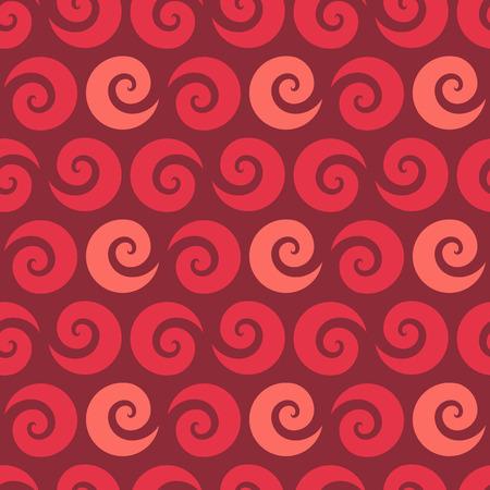 raspberry: Swirl raspberry seamless pattern, vector illustration for Your design, eps10