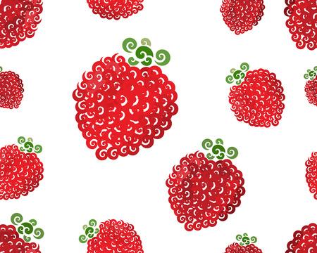 raspberry: Raspberry swirl seamless, vector illustration for Your design, eps10