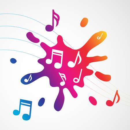 abstract music: Music abstract colorful splash, vector illustration for Your design, eps10