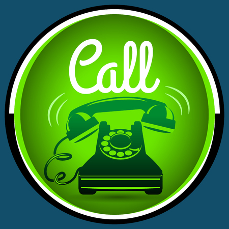 phone button: Call button retro phone, vector illustration for Your design, eps10