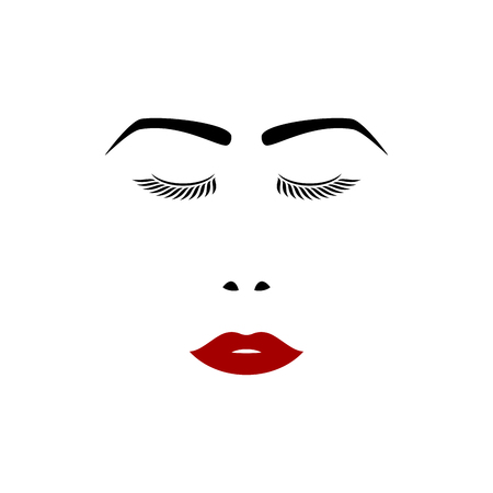 visage fille, illustration vectorielle pour votre conception, eps10