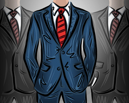 group of workers: Choosing a leader businessman, vector illustration for your design, EPS10 Illustration