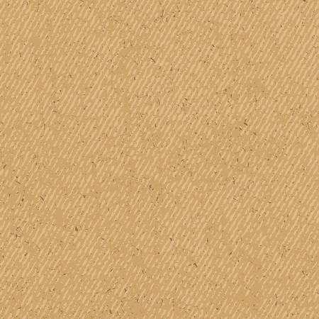 brown background: Craft paper grunge seamless texture, vector illustration Illustration