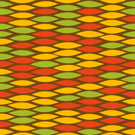 Green Rastafarian snake skin pattern Illustration