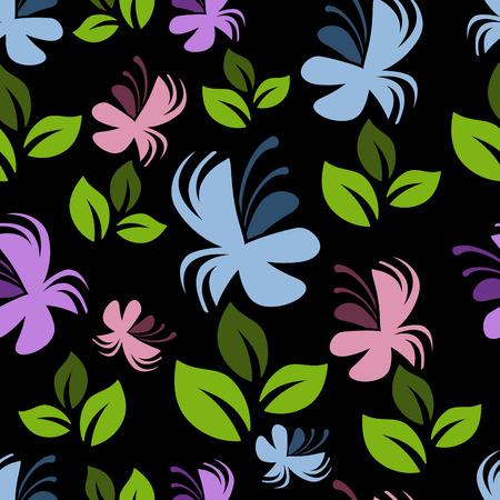 vintage patterns: Colorful floral seamless pattern, vector illustration, EPS10 Illustration