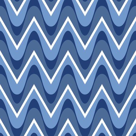 seamless pattern: Simple blue scalloped seamless pattern Illustration