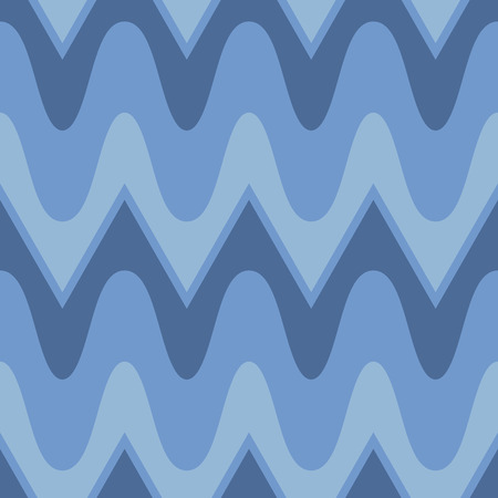 scalloped: Simple blue scalloped seamless pattern Illustration