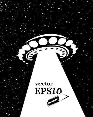 unidentified: Monochrome UFO invasion