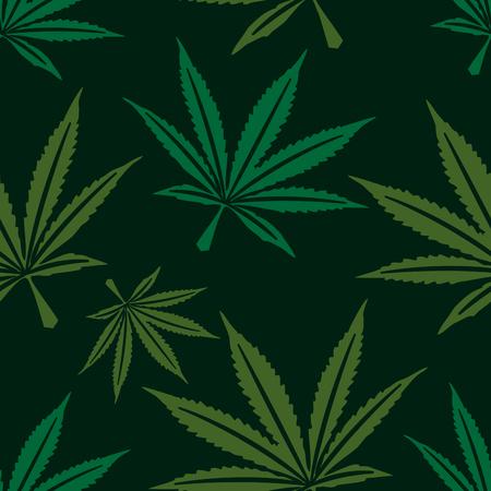 Marijuana leaf seamless pattern