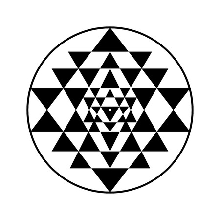 Sri Yantra sacred symbol, vector illustration for your design