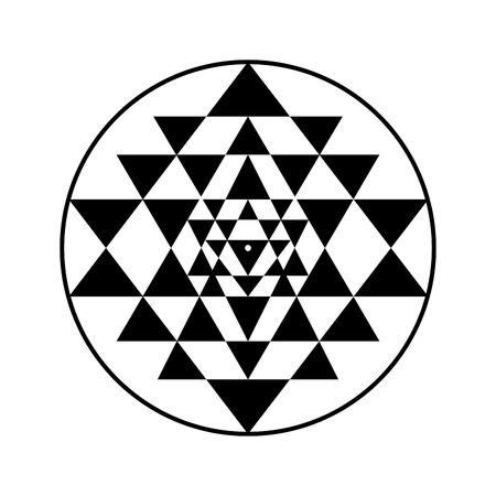 Sri Yantra simbolo sacro, illustrazione vettoriale per il vostro disegno