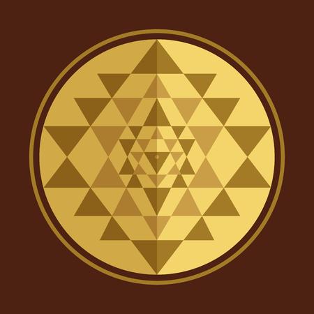 Sri Yantra sacred symbol, vector illustration for your design