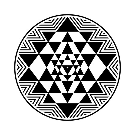 Sri Yantra symbol.