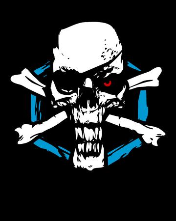 Scary crossbones symbol Vector illustration.
