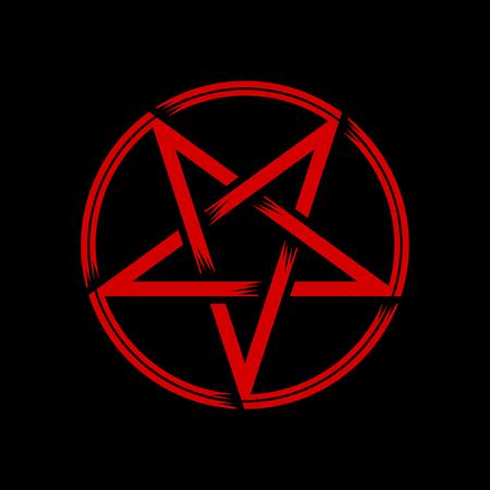 Pentagramm isoliertes Okkultismussymbol, Vektorillustration, Stern im Kreis Vektorgrafik