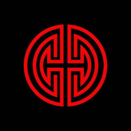 Oriental chinese symbol of happiness and health